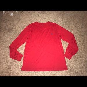 Polo Ralph Lauren Mens Red Long Sleeve Shirt Large